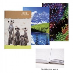 Záznamní kniha A5 150listů linkovaná šitá