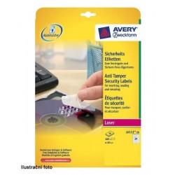 Zboží na objednávku - Etikety Avery Zweckform bezpečnostní A4 20listů
