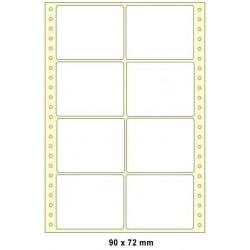 Doprodej - Etikety tabelační 90x72 dvouřadé 4000ks