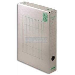 Archivní krabice A4 1/50 Emba přírodní hnědá zelený potisk