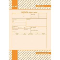 Tiskopis Faktura A5, samopropisovací, OPT 1072