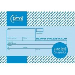 Tiskopis Příjmový pokladní doklad A6 PPD, číslovaný, 2x50 listů, OPT 1039