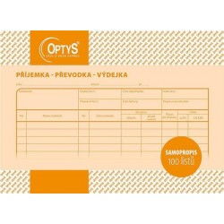 Tiskopis Příjemka,převodka,výdejka A5, samopropisovací, OPT 1087