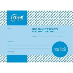 Tiskopis Příjmový pokladní doklad A6 PPD, jednoduchý, 100 listů, OPT 1067