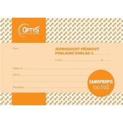 Tiskopis Příjmový pokladní doklad A6 PPD, jednoduchý, samopropis., 100l, OPT 1302