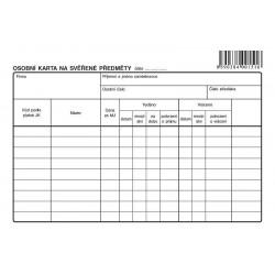 Tiskopis Osobní karta na svěřené předměty A5, OPT 1151