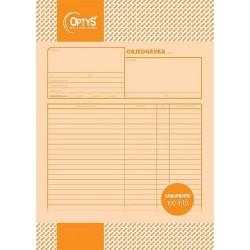 Tiskopis Objednávka A4, samopropisovací, 100 listů, OPT 1261