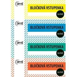 Tiskopis Bločková vstupenka, OPT 1267