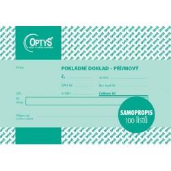 Tiskopis Pokladní doklad příjmový A6, jednoduchý, samopropisovací, OPT 1068