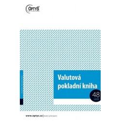 Tiskopis Valutová pokladní kniha A4, OPT 1021