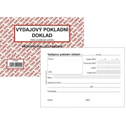 Tiskopis VPD I. Výdajový pokladní doklad A6 BAL NCR PT040