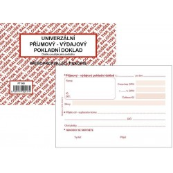 Tiskopis UPVD Univerzální příjmový-výdajový pokladní doklad A6 BAL NCR PT060