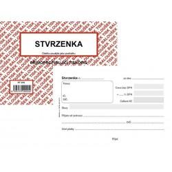Tiskopis Stvrzenka A6 BAL NCR PT070