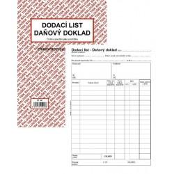 Tiskopis Dodací list - daňový doklad A5 BAL NCR PT140