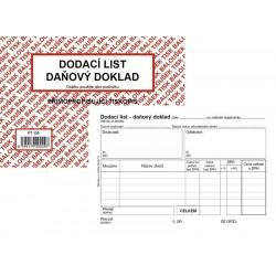 Tiskopis Dodací list - daňový doklad A6 BAL NCR PT130