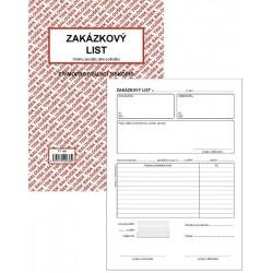 Tiskopis Zakázkový list A5 BAL NCR PT180