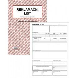 Tiskopis Reklamační list A4 BAL NCR PT195