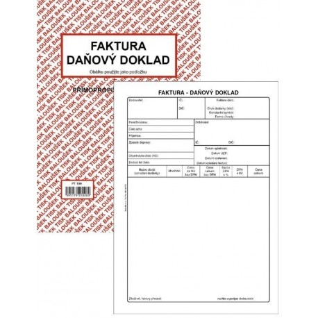 Tiskopis Faktura Daňový Doklad A5 Bal Ncr Pt199 Radek Havlát