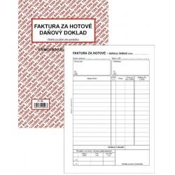 Tiskopis Faktura za hotové - daňový doklad A5 BAL NCR PT198