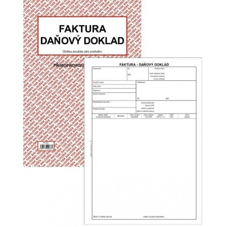 Tiskopis Faktura Daňový Doklad A4 Bal Ncr Pt210 Radek Havlát