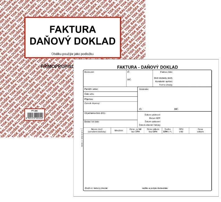 Tiskopis Faktura Daňový Doklad 23 A4 Bal Ncr Pt200 Radek Havlát