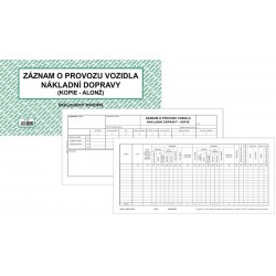 Tiskopis Záznam o provozu vozidla ND (kopie-alonž) oboustr. 2/3 A4 BAL EKO ET220