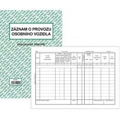 Tiskopis Záznam o provozu osobního vozidla (stazka) A5 BAL EKO ET205
