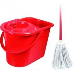 Mop+kbelík 15 litrů - KOMPLETNÍ (kbelík+ždímač+mop250gr+hůl)