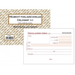 Tiskopis Příjmový pokladní doklad A6 PPD I. 1+1 čísl. BAL NCR PT022