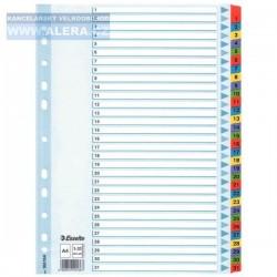 VÝPRODEJ - Rozřaďovač A4 1-31 listů papírový Esselte Mylar 100164