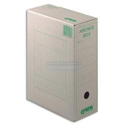 Archivní krabice A4 1/110 Emba přírodní hnědá zelený potisk