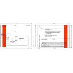 Doručenka C5 1000ks správní červený pruh s poučením NCR