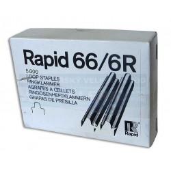 Spony do sešívačky 66/6R 5000ks Rapid electric očko