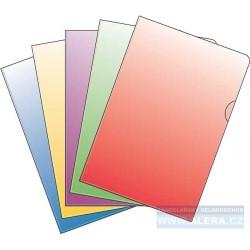 Zboží na objednávku - Obal A4 L 150mic PVC tuhý hladký, 10ks barevný