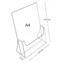 Litý stojánek z plexiskla - stojací A4