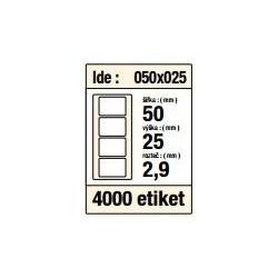 Etikety v kotoučku 50x25mm 4000ks