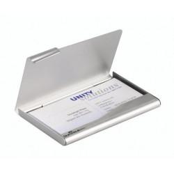 Pouzdro na vizitky BUSINESS CARD BOX Durable 2415 stříbrný hliník