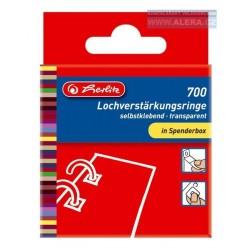 Zboží na objednávku - Vyztužovací kroužky lepicí 700ks Herlitz 08767220 [ POUZE PO 8 ks ]