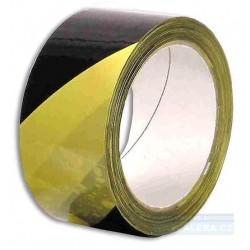 Páska lepicí technická 50mm x 66m žluto-černé pruhy