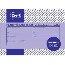 Tiskopis Příjmový pokladní doklad A6 PPD, zjednodušený, samopropis., 100 listů, OPT 1304