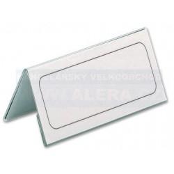 Stolní jmenovka z tvrzené fólie 122x210mm Durable 8052 25ks v balení