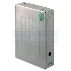 .Archivní krabice A4 1/75/ Emba přírodní hnědá zelený potisk