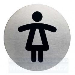 Informační piktogram nerez Durable 4904 WC Dámy