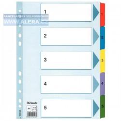 VÝPRODEJ - Rozřaďovač A4 1- 5 listů papírový Esselte Mylar 100160
