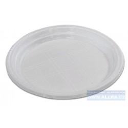 Talíř plastový 20,5cm mělký 100ks