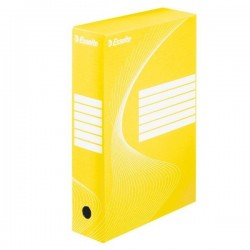 VÝPRODEJ - Archivní krabice Esselte 8cm žlutá 128413
