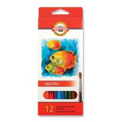 Pastelky akvarelové 12ks Koh-i-noor 3716 Aquarell - školní - Ryby