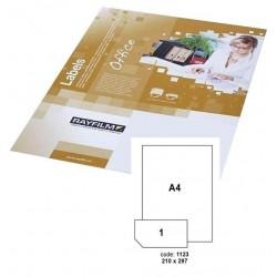 Etikety R0100 bílé 20listů 210x297