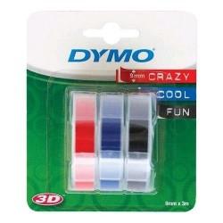 Dymo páska D3 9mmx3m/ 3 x mix ks blistr S0847750
