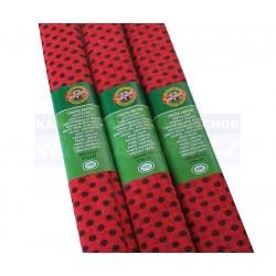 Zboží na objednávku - Papír krepový Koh-i-noor tečkovaný červeno-černý